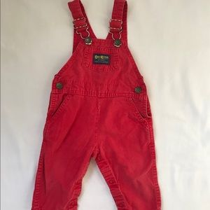 Vintage Red Oshkosh Overalls